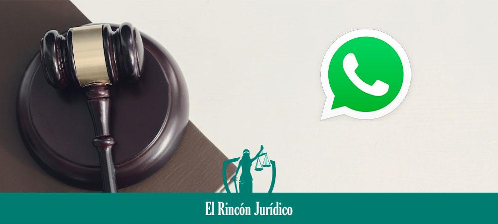 conversaciones de whatsapp como prueba