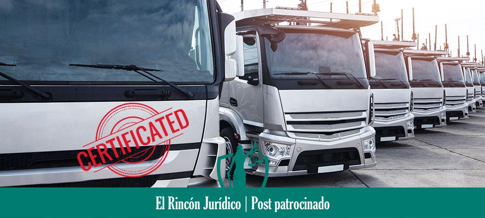 certificado de actividades para transportistas